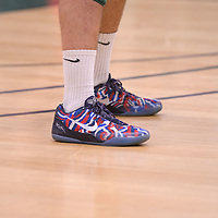 1st year middle Conal McAinsh (10) of the Regina Cougars custom Kobe's during Men's Volleyball home game on November 18 at Centre for Kinesiology, Health and Sport. Credit: /Arthur Images