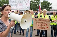 Berlin, Germany - 09.06.2016<br /> <br /> Ver.di protest rally of striking hospital staff of the Vivantes Service Gesellschaft (VSG ) at the Red Town Hall in Berlin .<br /> <br /> Ver.di Protestkundgebung des sich im Warnstreik befindenden Krankenhauspersonals der Vivantes Service Gesellschaft (VSG) am Roten Rathaus in Berlin. <br /> <br /> Photo: Bjoern Kietzmann