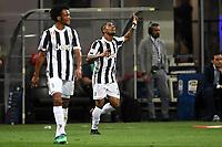 Esultanza gol Douglas Costa Juventus  Goal celebration 0-1 <br /> Milano 28-04-2018 Stadio Giuseppe Meazza in San Siro Football Calcio Serie A 2017/2018 Inter - Juventus Foto Andrea Staccioli / Insidefoto