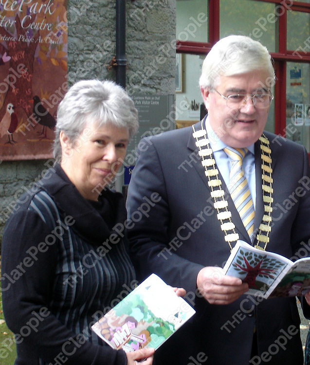 At the Coole Park winter programme launch were  Hilda MacLochlainn, Head Guide, NPWS, Coole Park and Cllr. Tom McHugh, Mayor of County Galway,