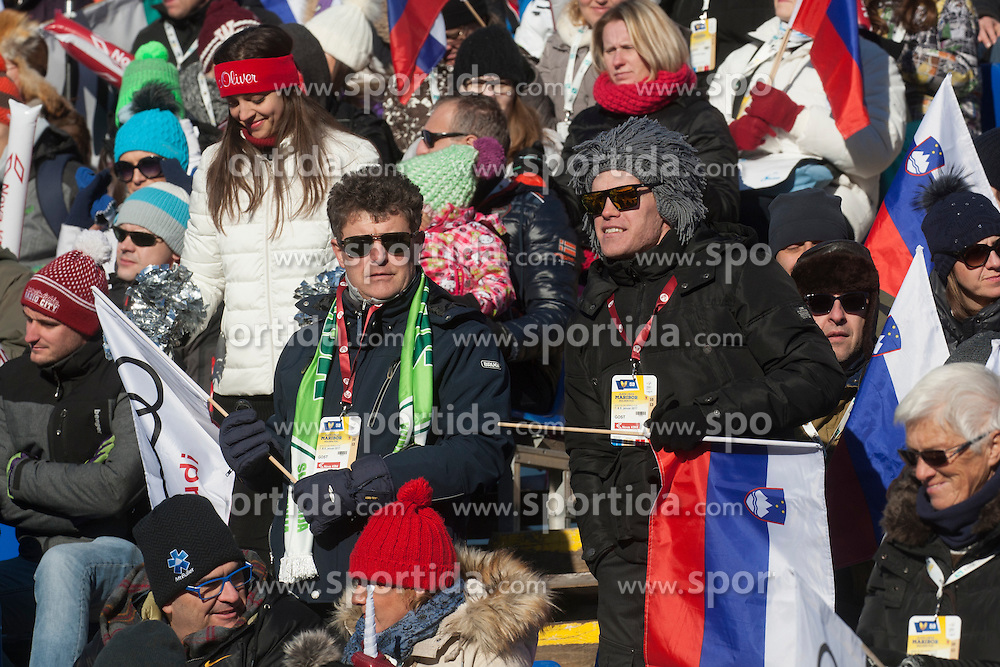 Fans during 6th Ladies' Giant slalom at 53rd Golden Fox - Maribor of Audi FIS Ski World Cup 2015/16, on January 7, 2017 in Pohorje, Maribor, Slovenia. Photo by Marko Vanovsek / Sportida