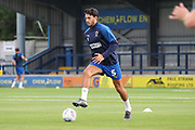 AFC Wimbledon defender Will Nightingale (5) warming up during the EFL Trophy (Leasing.com) match between AFC Wimbledon and U23 Brighton and Hove Albion at the Cherry Red Records Stadium, Kingston, England on 3 September 2019.