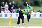 Western Storm's Freya Davies  during the Women's Cricket Super League match between Lancashire Thunder and Western Storm at Chester Broughton Hall, Chester, United Kingdom on 18 August 2019.