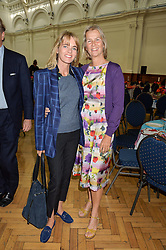 Left to right, LUCINDA GARLAND and PHILLIPA WALKER at a lunch in aid of the charity African Solutions to African Problems (ASAP) held at the Royal Horticultural Hall, Vincent Square, London on 19th May 2016.