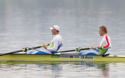 Tomaz Pirih and Rok Kolander  during media day of Slovenian National rowing team before World Championships in New Zealand 2010 on October 14, 2010 in Mala Zaka, Bled, Slovenia. (Photo by Vid Ponikvar / Sportida)
