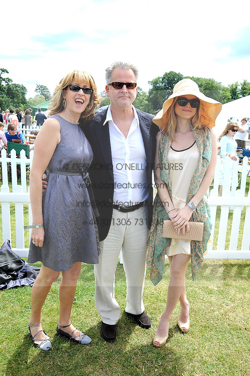 Left to right, actress SHARON MAUGHAN, actor TREVOR EVE and their daughter ALICE EVE at the 2008 Veuve Clicquot Gold Cup polo final at Cowdray Park Polo Club, Midhurst, West Sussex on 20th July 2008.<br /> <br /> NON EXCLUSIVE - WORLD RIGHTS