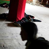 LABRANG, APRIL 5, 2012 :  nomad pilgrims from various regions  pray at labrang monastry .
