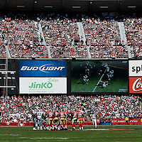 Fans during an NFL football game between the Dallas Cowboys and the San Francisco 49ers at Candlestick Park on Sunday, Sept. 18, 2011 in San Francisco, CA.   (Photo/Alex Menendez)