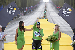 July 29, 2018 - Paris Champs-Elysees, France - PARIS CHAMPS-ELYSEES, FRANCE - JULY 29 : SAGAN Peter (SVK) of Bora - Hansgrohe pictured on the podium during stage 21 of the 105th edition of the 2018 Tour de France cycling race, a stage of 116 kms between Houilles and Paris Champs-Elysees on July 29, 2018 in Paris Champs-Elysees, France, 29/07/18 (Credit Image: © Panoramic via ZUMA Press)