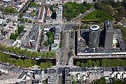 Nederland, Amsterdam, Oud-Zuid, 12-05-2009; De Nederlandsche Bank (DNB) aan het Fredriksplein, Stadhouderskade in de voorgrond.Swart collectie, luchtfoto (toeslag); Swart Collection, aerial photo (additional fee required).foto Siebe Swart / photo Siebe Swart