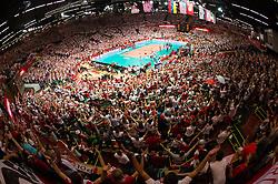 21-09-2014 POL: FIVB WK Finale Polen - Brazilie, Katowice<br /> Uebersicht Spodek Arena / Feature Zuschauer / Fans Polen, sfeer, publiek<br /> <br /> ***NETHERLANDS ONLY***