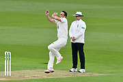 Kyle Abbott of Hampshire bowling during the Specsavers County Champ Div 1 match between Hampshire County Cricket Club and Worcestershire County Cricket Club at the Ageas Bowl, Southampton, United Kingdom on 13 April 2018. Picture by Graham Hunt.