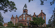 "Drake University's ""Old Main"" proudly stands on campus at the corner of 25th and University, Des Moines, Iowa."
