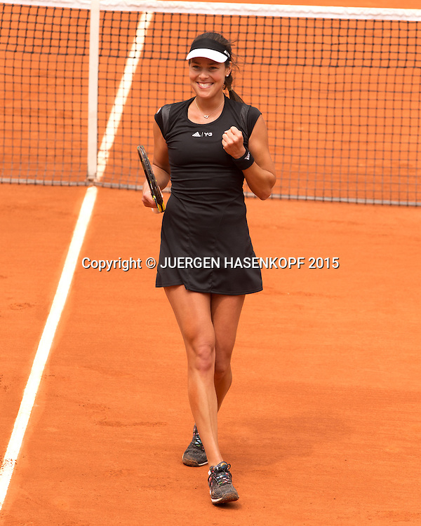 Ana Ivanovic (SRB) macht die Faust und jubelt,Jubel,Emotion,<br /> <br /> Tennis - French Open 2015 - Grand Slam ITF / ATP / WTA -  Roland Garros - Paris -  - France  - 31 May 2015.