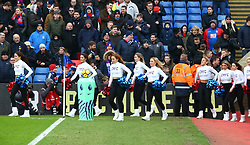 February 4, 2018 - London, England, United Kingdom - Crystal Palace Cheerleaders..during Premier League match between Crystal Palace and Newcastle United at Selhurst Park Stadium, London,  England on 04 Feb 2018. (Credit Image: © Kieran Galvin/NurPhoto via ZUMA Press)
