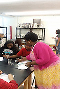 Students learn about STEM fields.