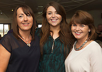 23/08/2015 REPRO FREE  Ann Gorham , Grace and Michelle Barry from Clifden  at Connemara Golf Club in Ballyconneely Co Galway  where Ryan Tubridy received honorary Life Membership from the Club .<br /> Photo:Andrew Downes, xposure.