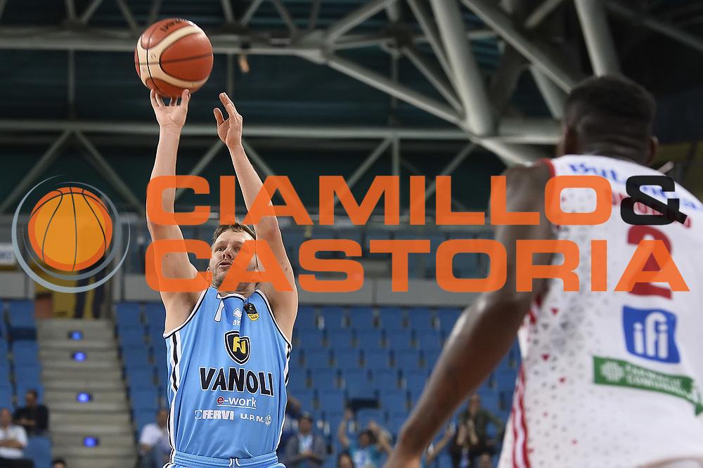 Travis Diener<br /> VL Pesaro - Vanoli Cremona<br /> LegaBasket 2017/2018<br /> Pesaro 29/10/2017<br /> Foto Ciamillo-Castoria