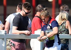 Marlie Packer sells raffle tickets in support of Bristol Ladies - Mandatory by-line: Paul Knight/JMP - 09/04/2017 - RUGBY - Cleve RFC - Bristol, England - Bristol Ladies v Saracens Women - RFU Women's Premiership Play-off Semi-Final