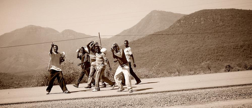 On the road, Ethiopia 2010