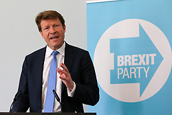 © Licensed to London News Pictures. 07/05/2019. London, UK. Richard Tice, Chairman of Brexit Party speaking at the press conference for the European election campaign in Westminster. Photo credit: Dinendra Haria/LNP