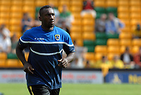 Photo: Ashley Pickering.<br /> Norwich City v Cardiff City. Coca Cola Championship. 01/09/2007.<br /> Jimmy-Floyd Hasselbaink of Cardiff warms up before the start of the match