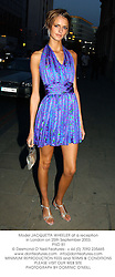 Model JACQUETTA WHEELER at a reception in London on 25th September 2003.<br /> PND 81