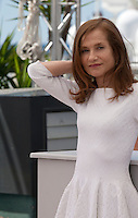 Actress Isabelle Huppert at the Valley Of Love  film photo call at the 68th Cannes Film Festival Friday 22nd May 2015, Cannes, France.
