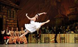 Laurencia, The Mikhailovsky Ballet, London Coliseum, London, Great Britain..Act 2...Natalia Osipova as Laurencia, April 2, 2013. Photo by Elliott Franks / i-Images...Contact..Andrew Parsons: 00447545 311662.Stephen Lock: 00447860204379