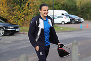 AFC Wimbledon attacker Egli Kaja (21) arriving during the EFL Sky Bet League 1 match between AFC Wimbledon and Peterborough United at the Cherry Red Records Stadium, Kingston, England on 12 November 2017. Photo by Matthew Redman.