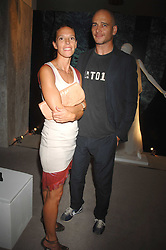 DINOS & TIPHAINE CHAPMAN at the opening of the Nina Ricci Boutique at Harvey Nichols, Knightsbridge, London on 3rd September 2007.<br /><br />NON EXCLUSIVE - WORLD RIGHTS
