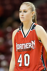 26 November 2005: Huskie Kristin Wiener. The Illinois State Redbirds were triumphant over the Northern Illinois Huskies 60 - 50 at the final buzzer.  The game was played at Redbird Arena on the campus of Illinois State University in Normal IL