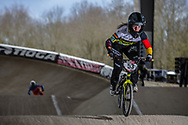 #53 (PRIES Nadja) GER at the 2018 UCI BMX Superscross World Cup in Saint-Quentin-En-Yvelines, France.