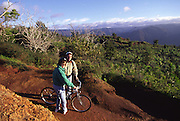 Biking, Waimea Canyon, Kauai, Hawaii<br />