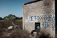 Greek/Turkish border, Evros, Orestiada - Xenophobic groups are imposing themselves in Greece, while the politicians say that one of the main reason for the economical crisis is the problem of the immigration. Among the Neo Fascist groups, the group Chrysi Avyi (Golden Dawn) is one of the largest one. This group, which belongs to the network European National Front, committed acts of violence and aggression against the migrants many times. On 28th March 2012 Chrysi Avyi organized a procession to give the green light to the police forces to fire the migrants who pass the border and to support the position of the antipersonnel mines which were banned by the Geneva<br /> Convention.
