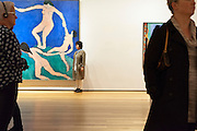 posing with Dance 1 by Henri Matisse at the Museum Of Modern Art in NYC.