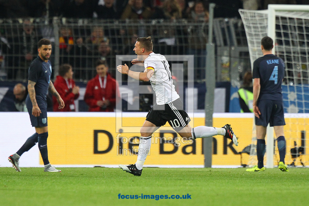 Lukas Podolski of Germany celebrates scoring his sides 1st goal during the International Friendly match at Signal Iduna Park, Dortmund<br /> Picture by Paul Chesterton/Focus Images Ltd +44 7904 640267<br /> 22/03/2017