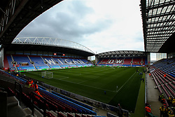 A general view of The DW Stadium, home to Wigan Athletic - Mandatory by-line: Robbie Stephenson/JMP - 04/11/2018 - FOOTBALL - DW Stadium - Wigan, England - Wigan Athletic v Leeds United - Sky Bet Championship