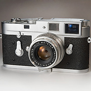 A Leica camera photographed for the book, Classic Cameras.