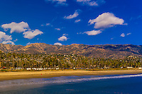 East Beach, Santa Barbara, California USA.