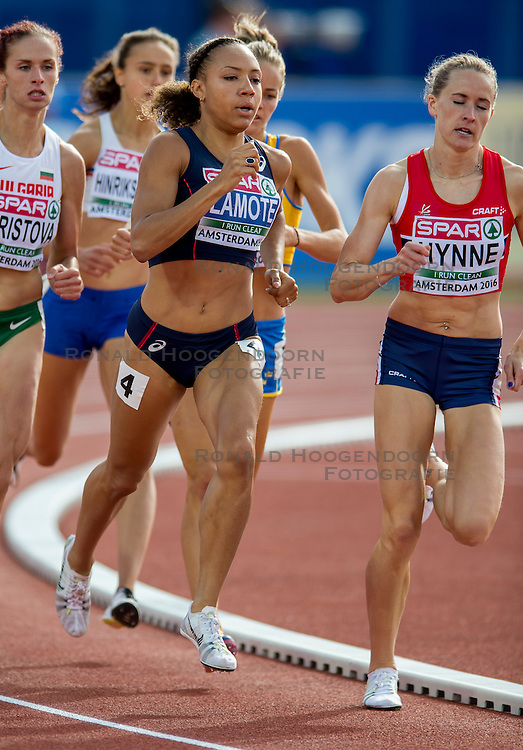 06-07-2016 NED: European Athletics Championships, Amsterdam<br /> Renelle Lamote FRA 800m