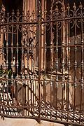 Episcopal Palace facade detail (XVIII century) Rococo style in Glorieta de España, Murcia. Spain