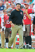 Tampa Bay Buccaneers head coach Greg Schiano during the Bucs 41-28 win over the Atlanta Falcons at Raymond James Stadium on Nov. 17, 2013 in Tampa, Florida. <br /> <br /> &copy; 2013 Scott A. Miller