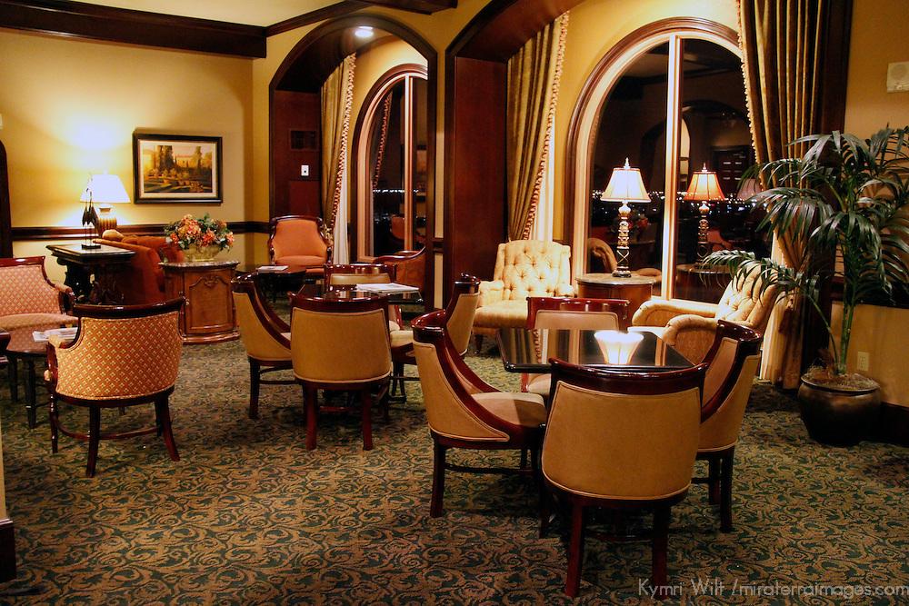 USA, Florida, Orlando. The Concierge Lounge at Rosen Shingle Creek Resort.
