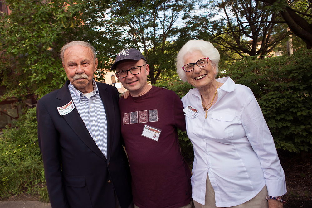 West Homestead Mayor John Dindak, writer Peter Reder and Homestead Mayor Betty Esper at the Meet & Greet and Commemorate with Mark Rylance for the Battle of Homestead Foundation.