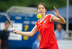 LIVERPOOL, ENGLAND - Thursday, June 21, 2012: Natalie Wall (GBR) during the opening day of the Medicash Liverpool International Tennis Tournament at Calderstones Park. (Pic by David Rawcliffe/Propaganda)