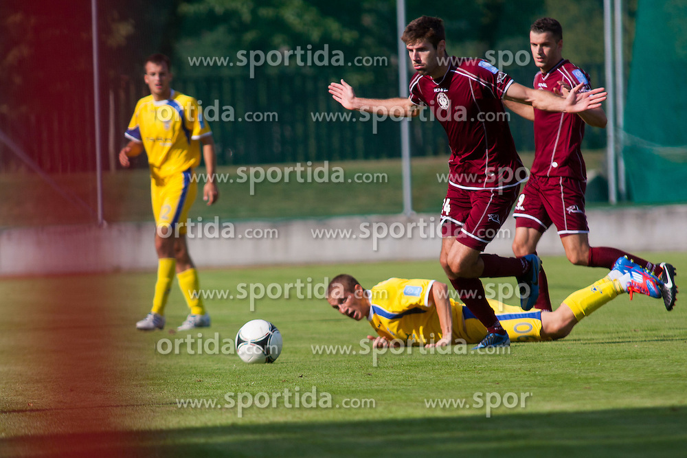 Football match between NK Triglav Kranj and NK Domzale, 5th Round of Prva Liga, on 12 August, 2012, in Sportni center, Kranj, Slovenia. (Photo by Grega Valancic / Sportida)