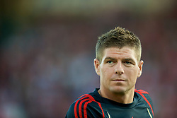 OSLO, NORWAY - Wednesday, August 5, 2009: Liverpool's captain Steven Gerrard MBE during a preseason match against FC Lyn Oslo at the Bislett Stadion. (Pic by David Rawcliffe/Propaganda)