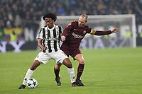 23.11.2017 - Torino - Champions League   -  Juventus-Barcellona nella  foto: Andres Iniesta e Juan Cuadrado