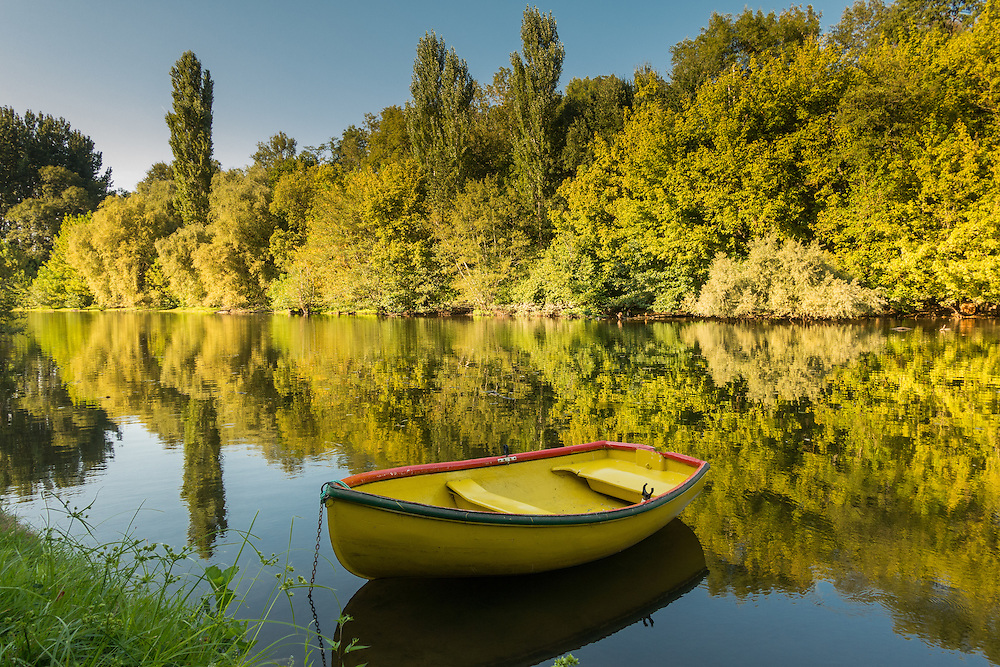 Rowboat on the Dordogne at Carennac